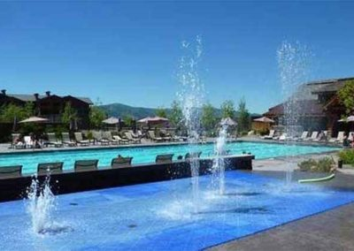 Water Fountains and Pool at Teton Springs