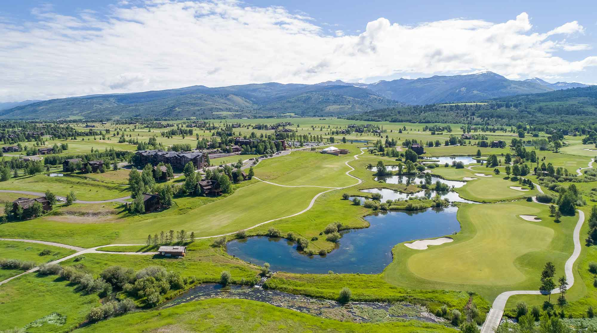 Teton Springs Lodge Aerial View