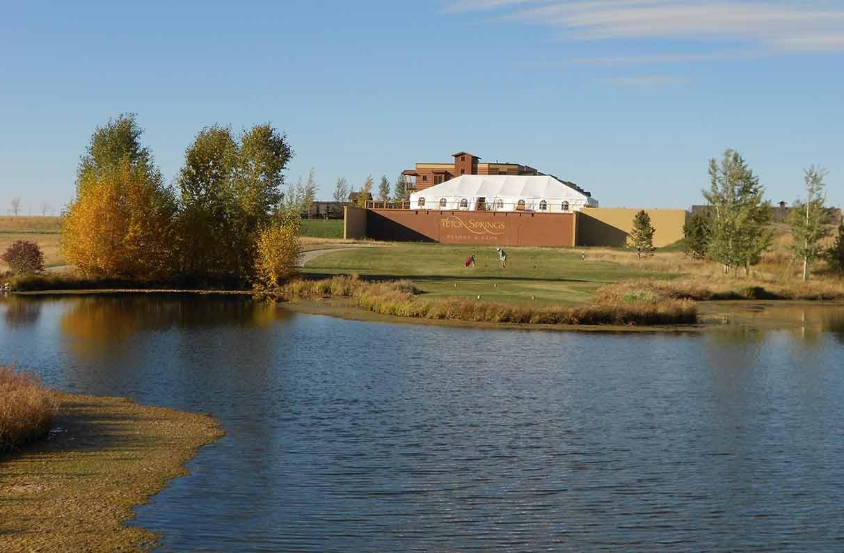 Golfing at Teton Springs