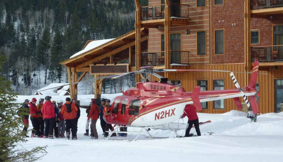 Come Heli Ski at Teton Springs Lodge
