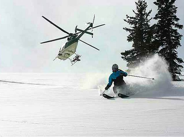 Heli Skiing the Tetons