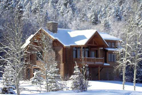 Winter Log Cabins for Rent