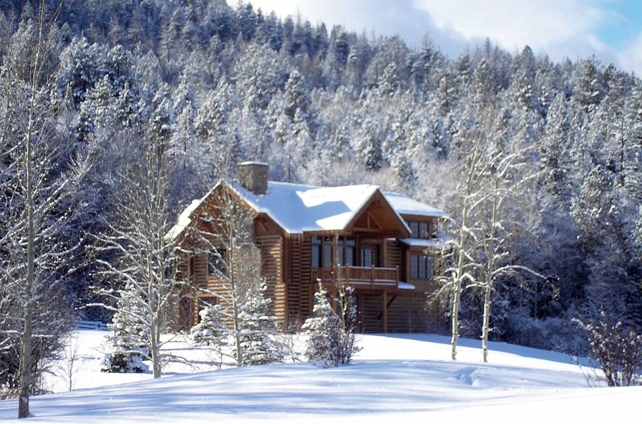 Winter Log Cabin - Winter Vacations