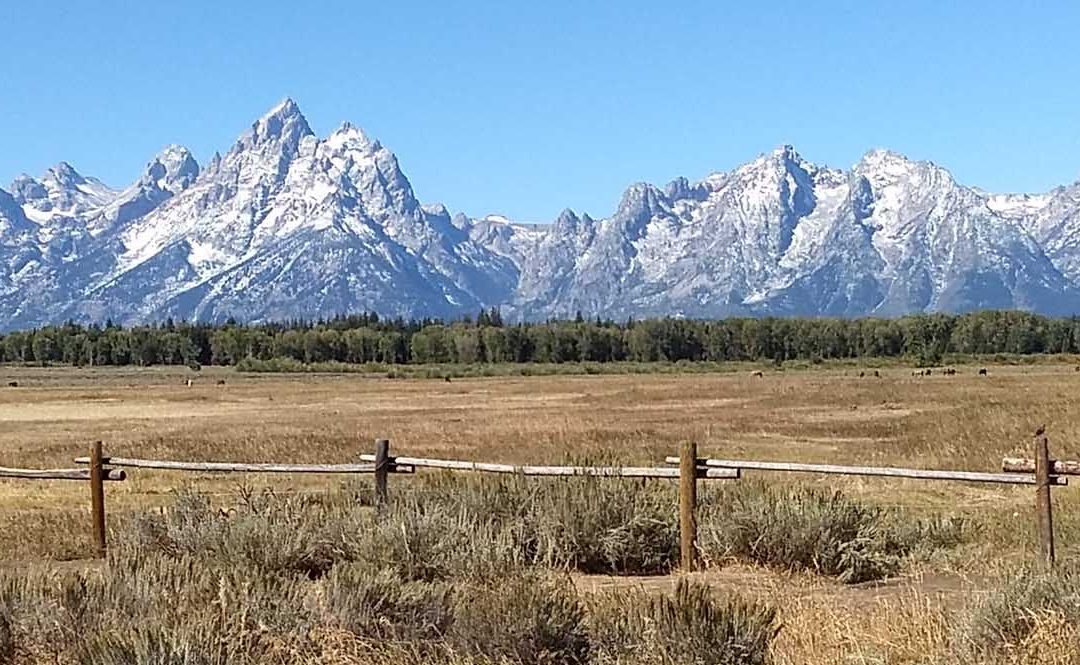 Hiking near the Teton Mountains