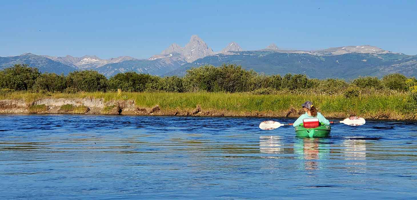 Kayaking on the Teton River