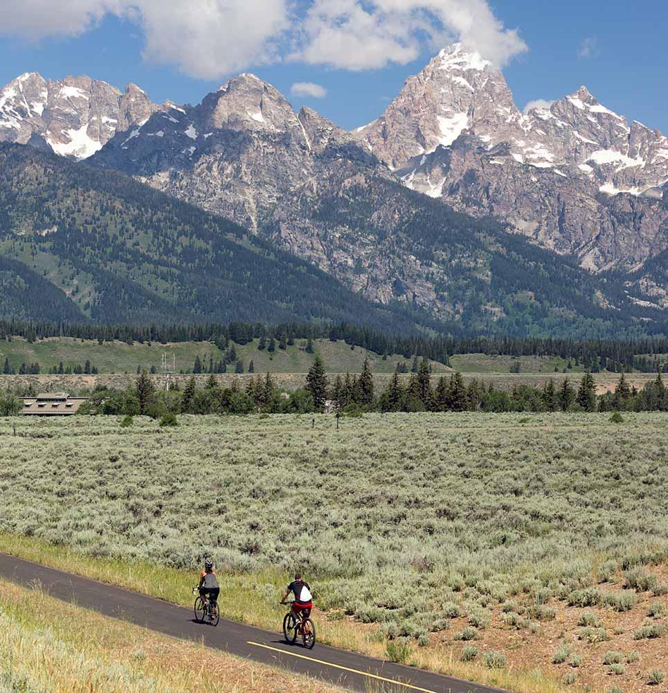 Biking around the Tetons